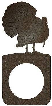 Rustic Metal Door Knob Backing Plate- Turkey Design