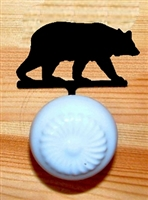 Drawer Knob Backing Plate- Bear Design- Style 1