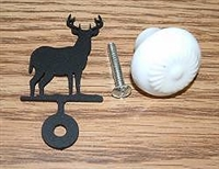 Drawer Knob Backing Plate- Deer Design