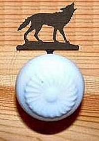 Drawer Knob Backing Plate- Wolf Design