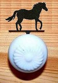 Drawer Knob Backing Plates- Horse Design