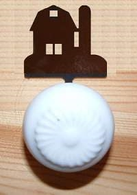 Drawer Knob Backing Plates- Barn Design