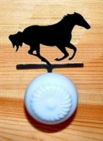 Drawer Knob Backing Plates- Galloping Horse Design