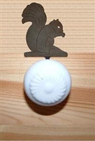 Drawer Knob Backing Plates- Squirrel Design