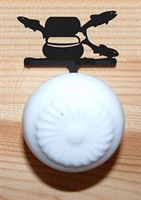 Drawer Knob Backing Plates- Fly-Rod Fish Design
