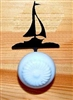 Drawer Knob Backing Plates- Sailboat Design