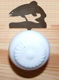 Drawer Knob Backing Plates- Trout Design