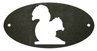 Door Plaque- Squirrel Design
