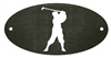 Door Plaque- Golfer Design