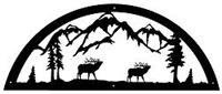 Door Topper- Elk Design