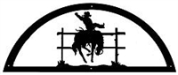 Door Topper- Bucking Bronco Design