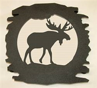 Rustic Metal Trivet- Moose Design