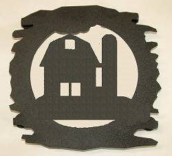 Rustic Metal Trivet- Barn Design