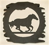Rustic Metal Trivet- Galloping Horse Design