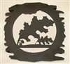 Rustic Metal Trivet- Oak Leaf Design
