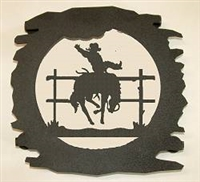 Rustic Metal Trivet- Bucking Bronco Design