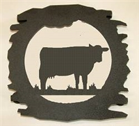 Rustic Metal Trivet- Cow Design