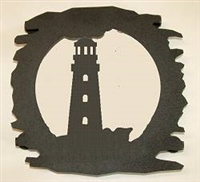 Rustic Metal Trivet- Lighthouse Design