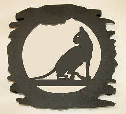 Rustic Metal Trivet- Cat Design