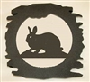 Rustic Metal Trivet- Rabbit Design