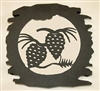 Rustic Metal Trivet- Pinecone Design