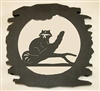 Rustic Metal Trivet- Raccoon Design
