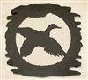 Rustic Metal Trivet- Flying Duck Design