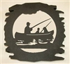 Rustic Metal Trivet- Fisherman Design