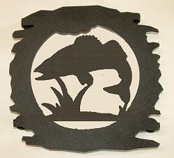 Rustic Metal Trivet- Walleye Design