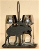 Salt & Pepper Shaker Holder- Moose Design