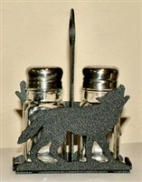 Salt & Pepper Shaker Holder- Wolf Design