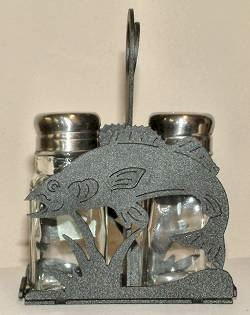 Salt & Pepper Shaker Holder- Walleye Design