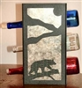 Metal Countertop Wine Bottle Rack- Bear on a Log