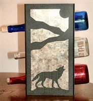 Metal Countertop Wine Bottle Rack- Wolf Design