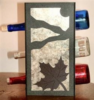 Metal Countertop Wine Bottle Rack- Maple Leaf Design