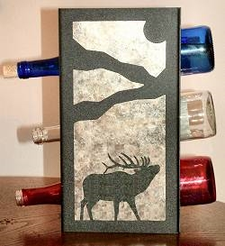Metal Countertop Wine Bottle Rack- Elk Design