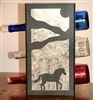 Metal Countertop Wine Bottle Rack- Horse Design