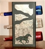 Metal Countertop Wine Bottle Rack- Galloping Horse Design