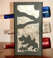 Metal Countertop Wine Bottle Rack- Oak Leaf Design