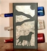 Metal Countertop Wine Bottle Rack- Lab Retriever Design