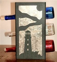 Metal Countertop Wine Bottle Rack- Lighthouse Design