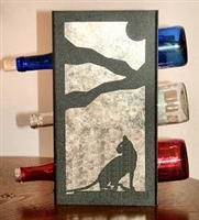 Metal Countertop Wine Bottle Rack- Cat Design