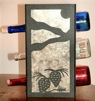 Metal Countertop Wine Bottle Rack- Pinecone Design