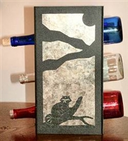 Metal Countertop Wine Bottle Rack- Raccoon Design