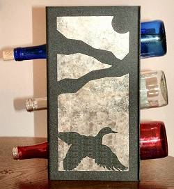 Metal Countertop Wine Bottle Rack- Flying Duck Design
