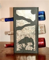 Metal Countertop Wine Bottle Rack- Walleye Design