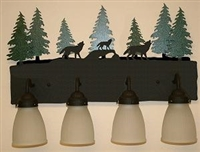 3-D Bath Light- Wolf Design