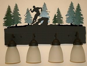 3-D Bath Light- Skier Design