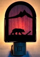 Rustic Decorative Night Light- Bear Design