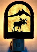 Rustic Decorative Night Light- Moose Desgin